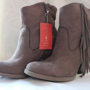 Taupe Brown Ankle Boots